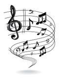 Hintergrund mit Musik-Anmerkung. vektor abbildung
