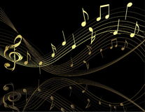 Hintergrund mit Musikanmerkungen Lizenzfreies Stockfoto