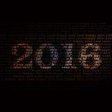 Hintergrund mit 2016 Mustern Stockfotos