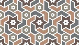Hintergrund mit nahtlosem Muster in der islamischen Art stock abbildung