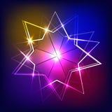 Hintergrund mit Neonfahne Abbildung Stockfotos
