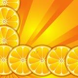 Hintergrund mit orange Scheiben stock abbildung
