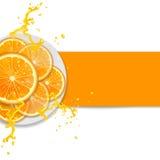 Hintergrund mit Orangen Stockfotografie