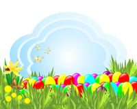 Hintergrund mit Ostereiern Stockfoto