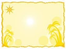 Hintergrund mit Palmen vektor abbildung