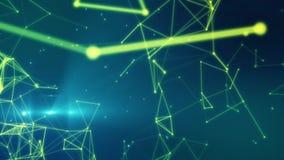 Hintergrund mit Partikeln und Verbindungen lizenzfreie abbildung