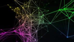 Hintergrund mit Partikeln und Verbindungen stock abbildung