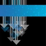 Hintergrund mit Pfeilen lizenzfreie abbildung