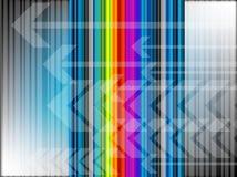 Hintergrund mit Pfeilen und Streifen stock abbildung