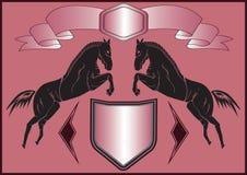 Hintergrund mit Pferden Stockbild