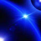 Hintergrund mit Planeten und Sternen Stockfotos