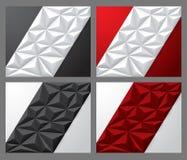 Hintergrund mit Polygonen in der Mitte Stockfoto