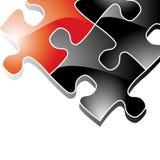Hintergrund mit Puzzlespiel-Stücken Lizenzfreies Stockfoto