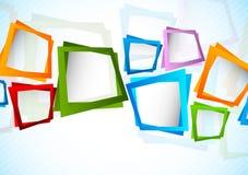 Hintergrund mit Quadraten lizenzfreie abbildung