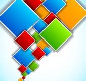 Hintergrund mit Quadraten stock abbildung