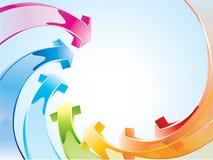 Hintergrund mit Regenbogenpfeilen Lizenzfreie Stockbilder