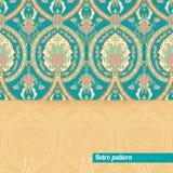 Hintergrund mit Retro- Muster mit Ananas Stockbild