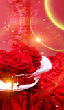 Hintergrund mit Rosen lizenzfreies stockbild