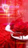 Hintergrund mit Rosen stockbild