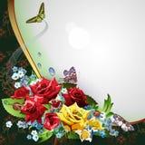 Hintergrund mit Rosen vektor abbildung
