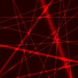 Hintergrund mit roten gelegentlichen Strahlen Lasers Stockbilder