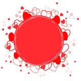 Hintergrund mit roten Herzen - Illustration Lizenzfreie Stockfotos