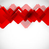 Hintergrund mit roten Quadraten lizenzfreie abbildung