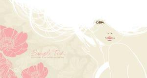 Hintergrund mit schönem Mädchen Stockfotos