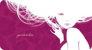 Hintergrund mit schönem Mädchen Stockbilder