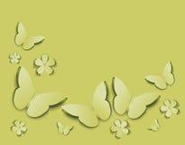 Hintergrund mit Schmetterlingen Stockfotos