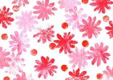 Hintergrund mit Schmutzblumen Stockfotos