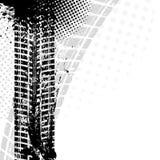 Hintergrund mit Schmutzschwarz-Reifenbahn, Lizenzfreie Stockbilder