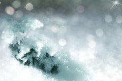 Hintergrund mit Schnee für Weihnachtsdekorationen Stockfotografie