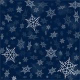Hintergrund mit Schneeflocken Stockbilder