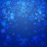 Hintergrund mit Schneeflocken Lizenzfreies Stockfoto