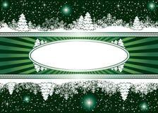 Hintergrund mit Schneeflocken, Sternen und Weihnachten tr Lizenzfreies Stockfoto