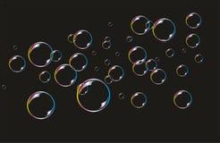 Hintergrund mit Seifen-Luftblasen Stockfoto
