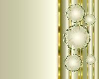 Hintergrund mit silbernen Blasen Lizenzfreie Stockfotografie