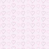 Hintergrund mit skizzierten Herzen Lizenzfreie Stockfotos