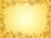 Hintergrund mit Sonnenblumen Lizenzfreie Stockfotos