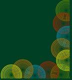 Hintergrund mit Spiralen Stockbild