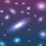 Hintergrund mit Sternen Stockfoto