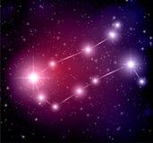 Hintergrund mit Sternen und Zwillingskonstellation Stockbild