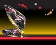 Hintergrund mit stilisierten abstrakten Blättern vektor abbildung