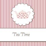 Hintergrund mit Teekanne lizenzfreie abbildung