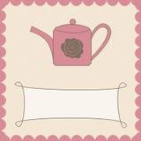 Hintergrund mit Teekanne vektor abbildung