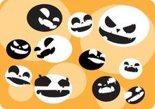 Hintergrund mit verrücktem Gesicht Halloween-Ball Stockfotografie