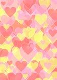 Hintergrund mit verschiedenen sortierten Herzen Lizenzfreie Stockfotografie