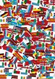 Hintergrund mit vielen Flaggen Lizenzfreies Stockbild