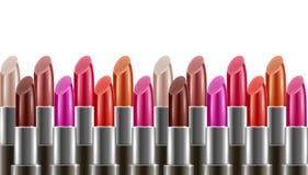 Hintergrund mit vielen Lippenstiften Lizenzfreies Stockfoto